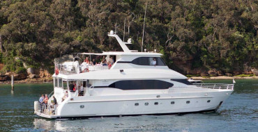 Oceanos luxury boat hire in secluded bay